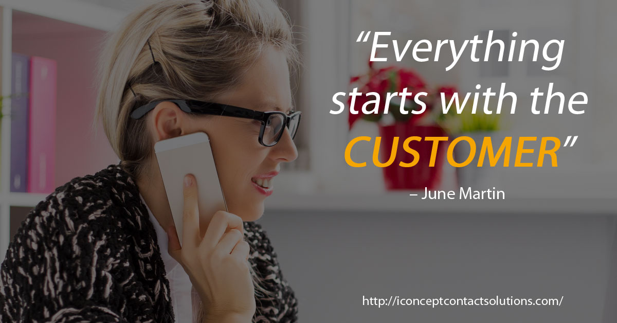 everything starts with the customers